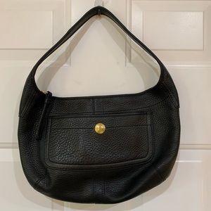 COACH Pebbled Leather Hobo Black & Brass Hardware